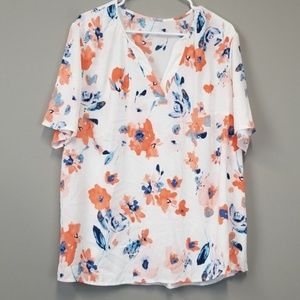 Lane Bryant plus size floral blouse top